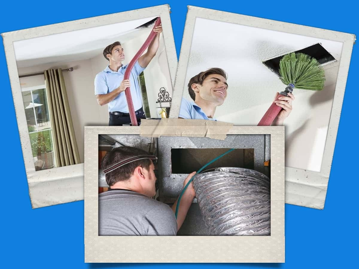 air duct cleaning collage